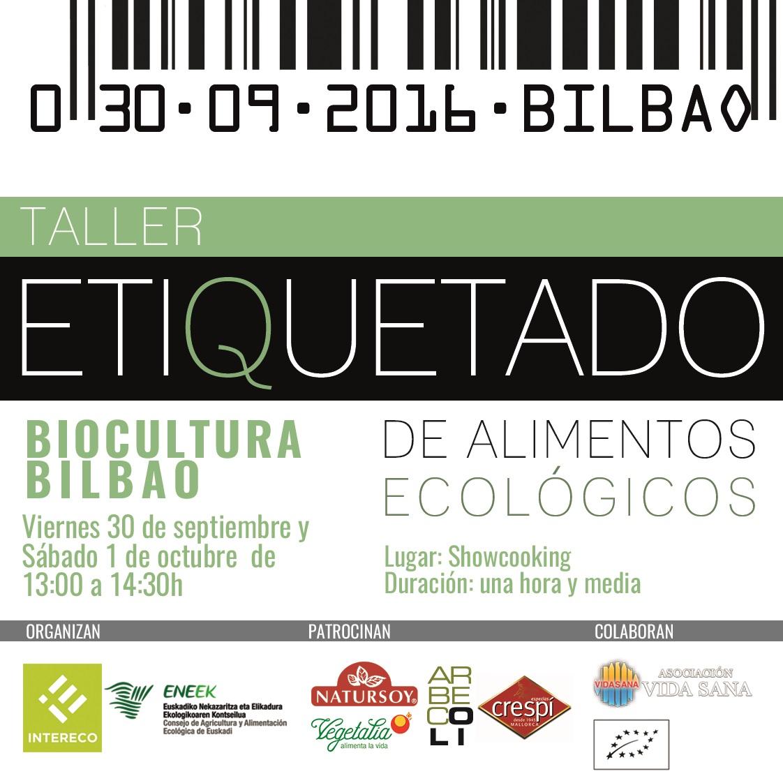 BioCultura Bilbao 2016 Taller de etiquetado ecológico con degustación y sorteo