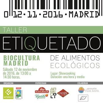 Taller de etiquetado ecológico gratuito con sorteo en  Biocultura Madrid