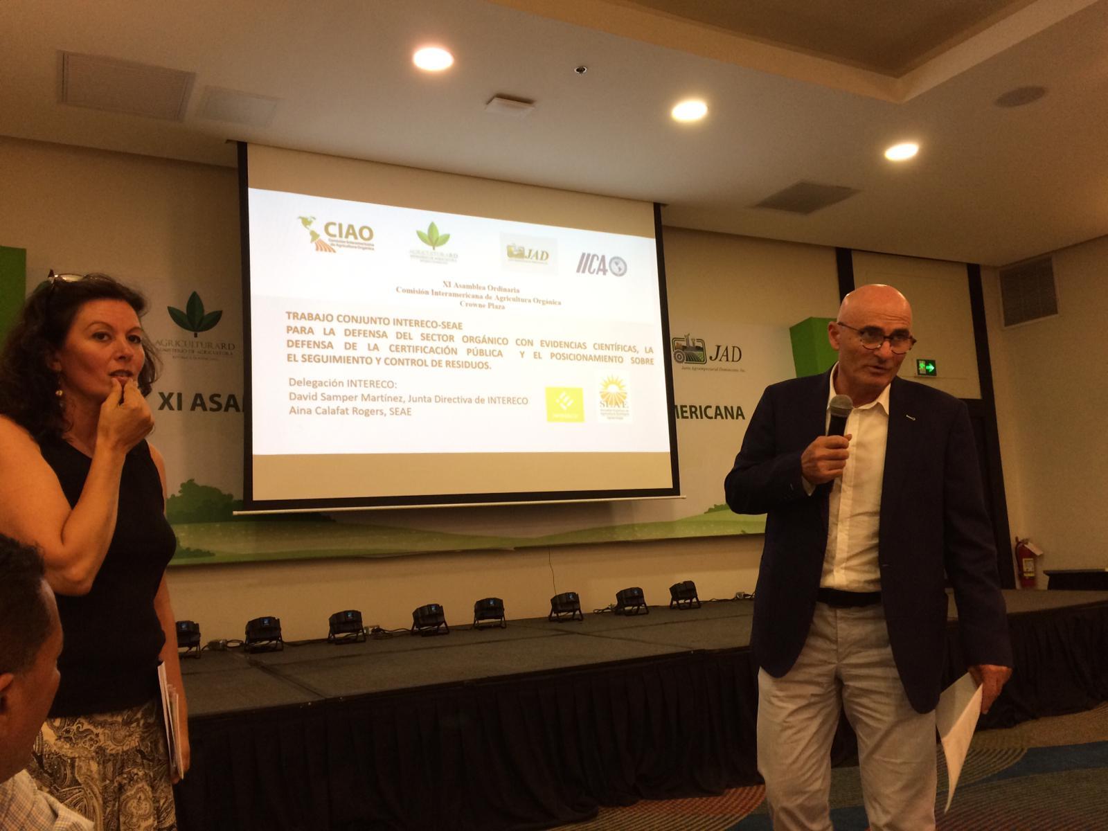 INTERECO y SEAE participan en la XI Asamblea de la Comisión Interamericana de Agricultura Ecológica, CIAO.