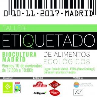 Cartel Taller Etiquetado Biocultura Madrid