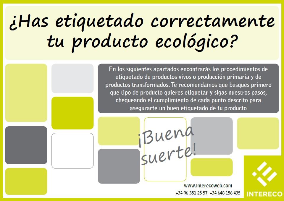 ¿Has etiquetado correctamente tu producto ecológico?